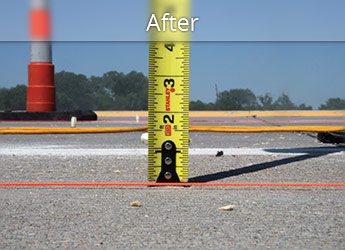 After leveling Lewiston roadway with PolyLevel®