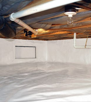 A complete crawl space repair system in Portsmouth