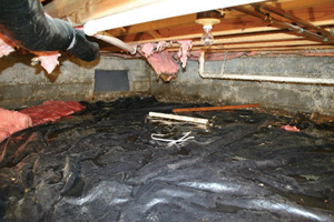 Crawl Space Repair Before in Portland