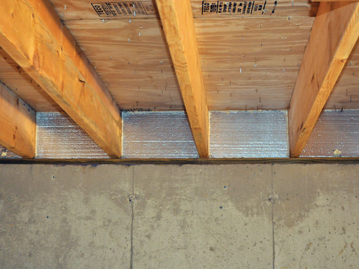 Silverglo Insulation Installed In A Floor Joist Scarborough
