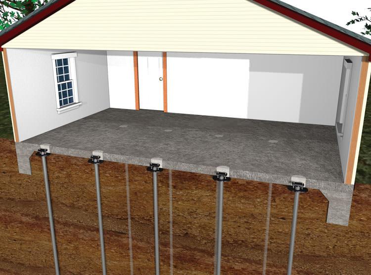Sinking settling concrete floor slab repair in bangor for Insulating basement floor before pouring