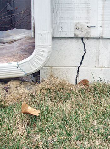 foundation wall cracks due to street creep in Kennebunk