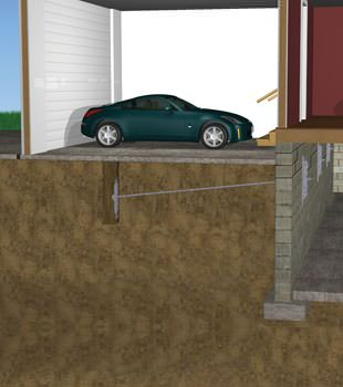 Graphic depiction of a street creep repair in a Falmouth home