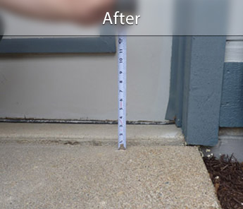 Portland concrete walkway repair & leveling