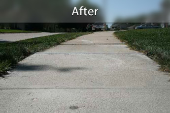 After photo of PolyLevel® concrete sidewalk repair in Portland