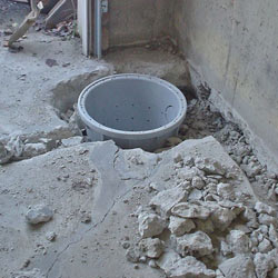 Placing a sump pit in a Gorham home