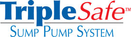 Sump pump system logo for our TripleSafe, available in areas like Old Town