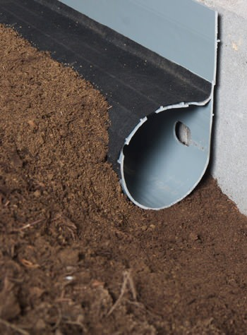 crawl space drain system installed in Caribou