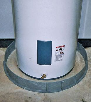 An old water heater in York, ME with flood protection installed