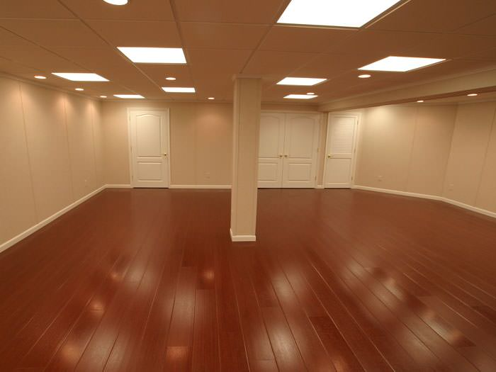 Captivating Rosewood Faux Wood Basement Flooring For Finished Basements In Portland ...