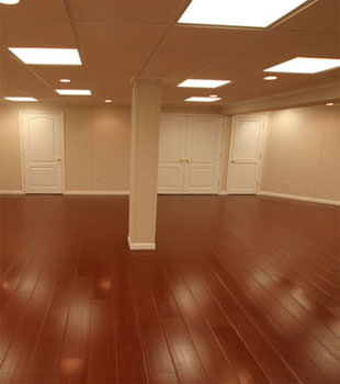 Rosewood faux wood basement flooring for finished basements in Portland