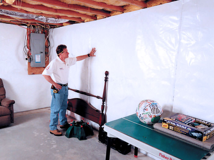 Cleanspace Basement Wall Vapor Barrier System in Maine and New