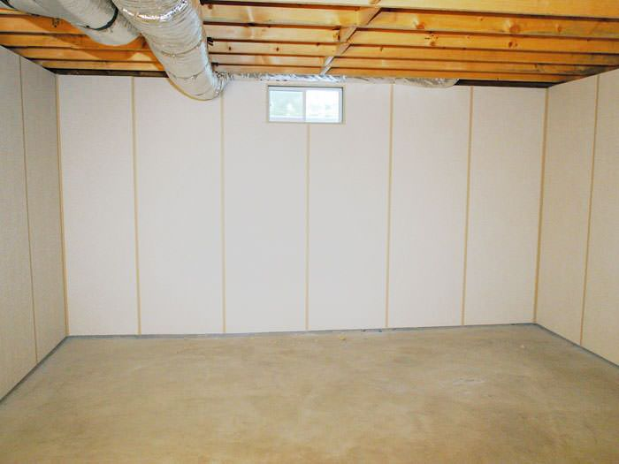 Zenwall Insulated Basement Wall Panels Installed In